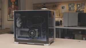 o11d mini tempered glass side panel view