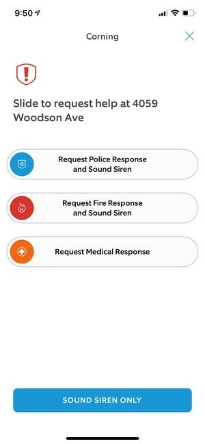 ring emergency response request