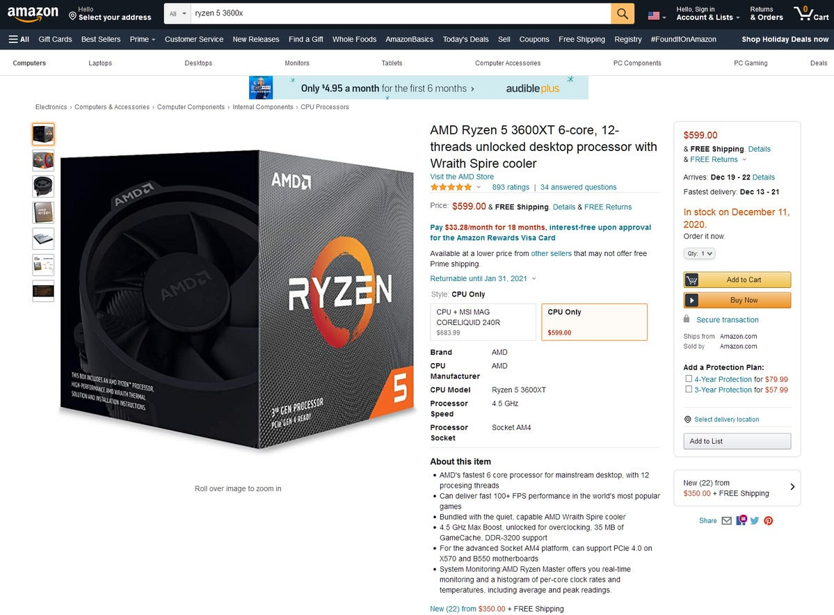 ryzen 5 3600xt 100869621 large - Ryzen 5000, RTX 30-series and Radeon 6000 shortages hit system builders too
