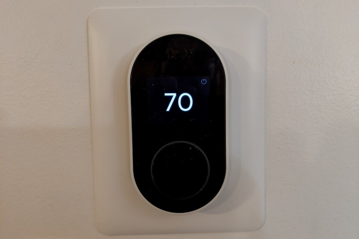 wyze smart thermostat with cover plate