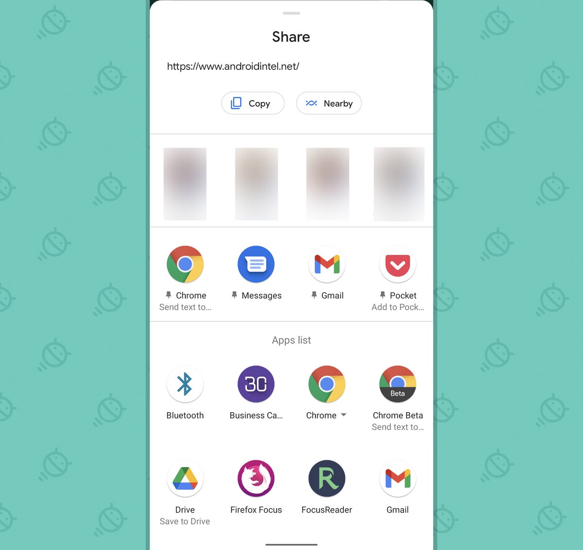 Android Consistency: System share menu