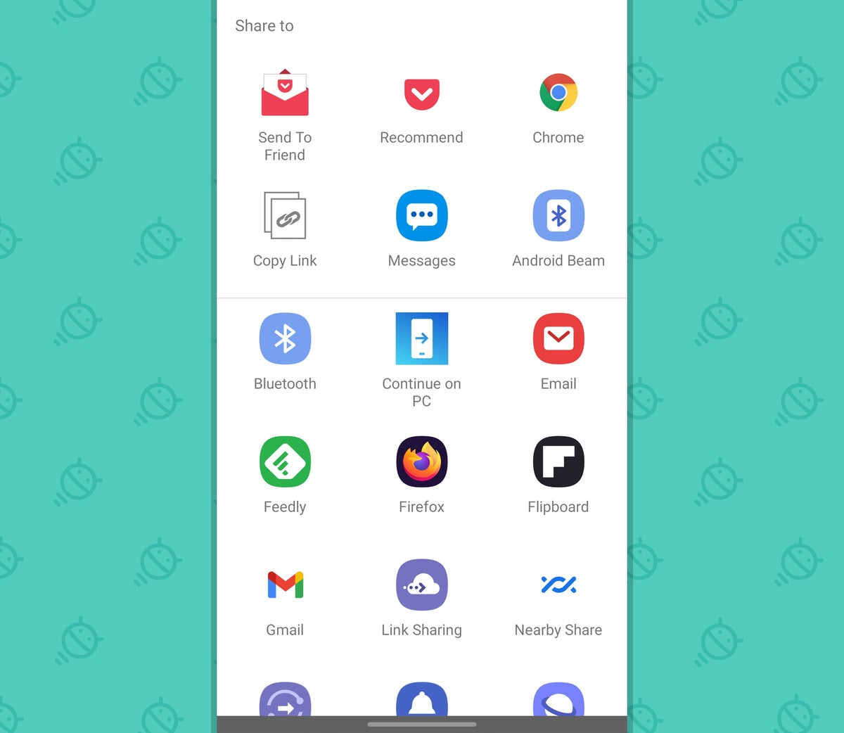Android Consistency: Pocket share menu