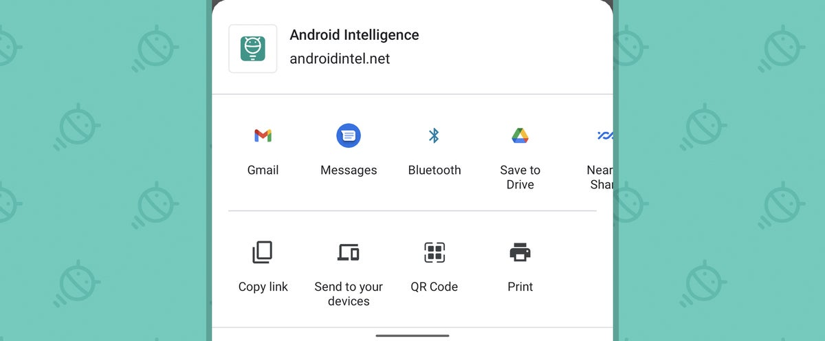 Android Consistency: Chrome share menu