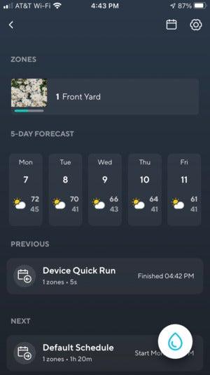 Wyze Smart Sprinkler Controller app