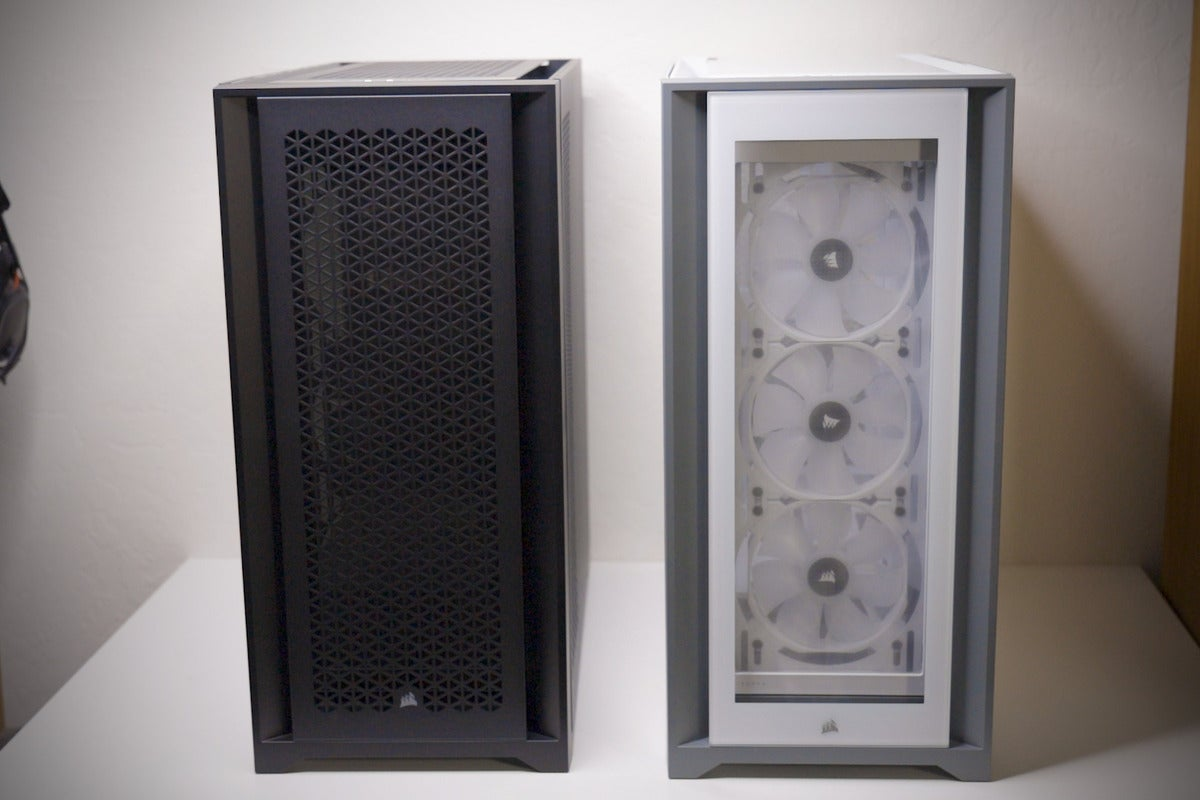 Black 5000D Airflow and white 5000X side by side