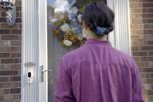 alarm dot com touchless video doorbell lifestyle