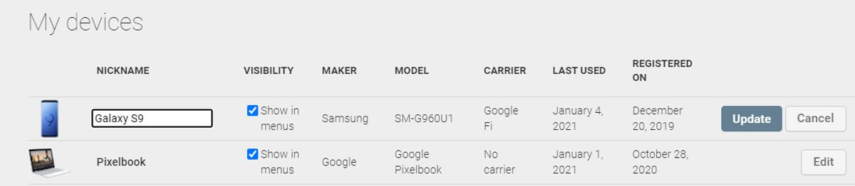 Android Maintenance: Play Store devices