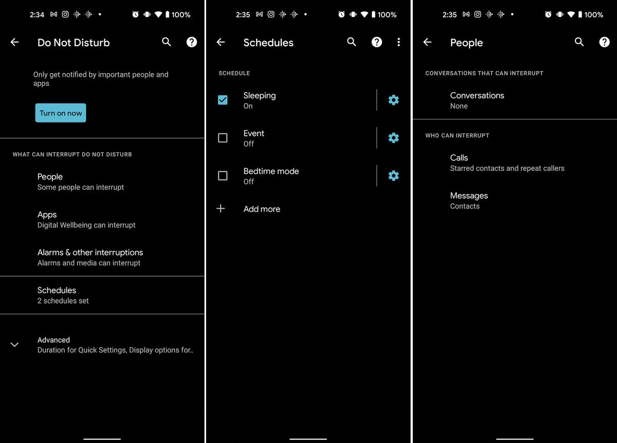 Android phone helps you relax, do not disturb