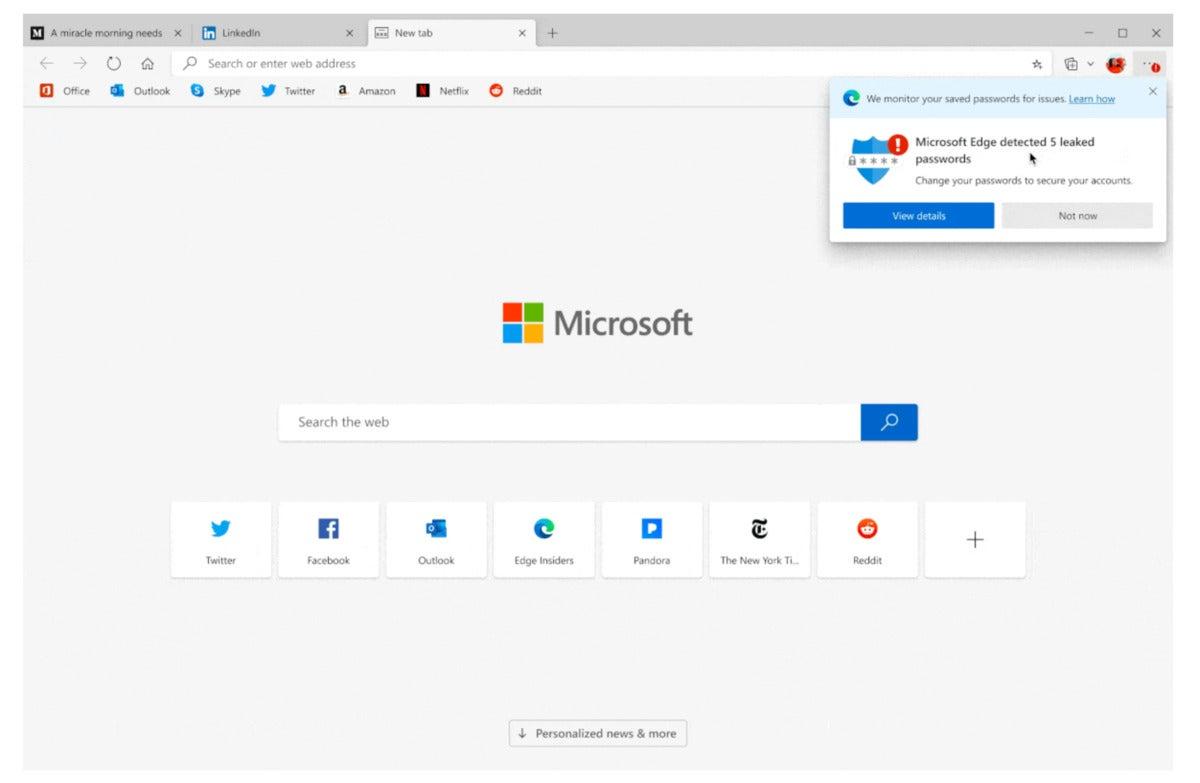 Microsoft edge leaked passwords