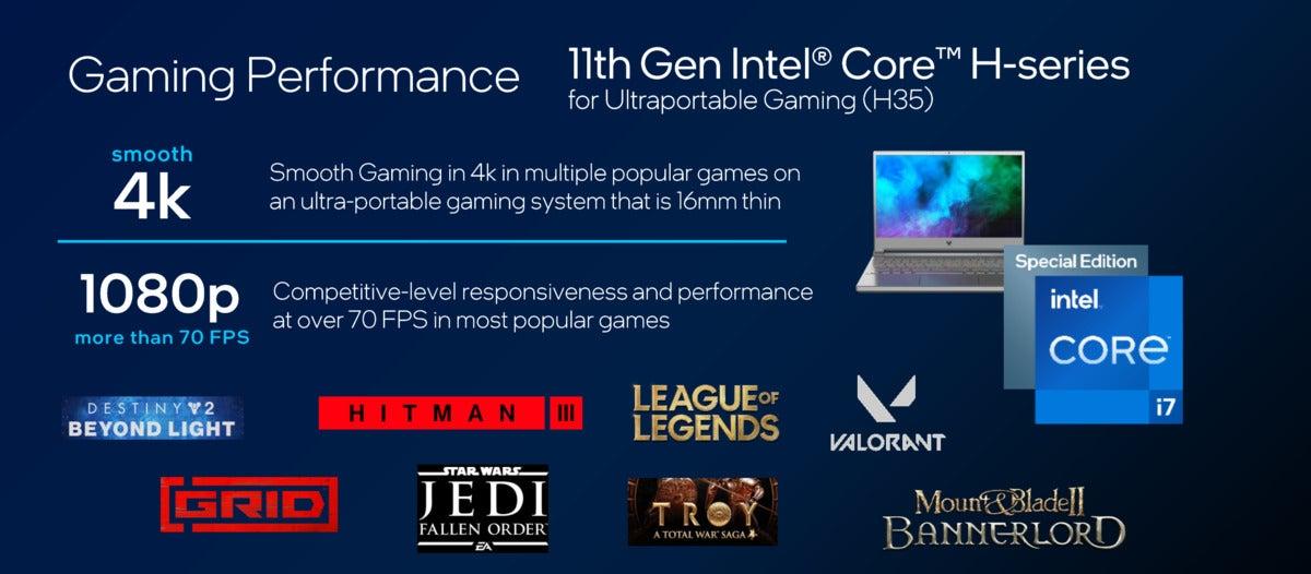Intel Tiger Lake h35 gaming performance