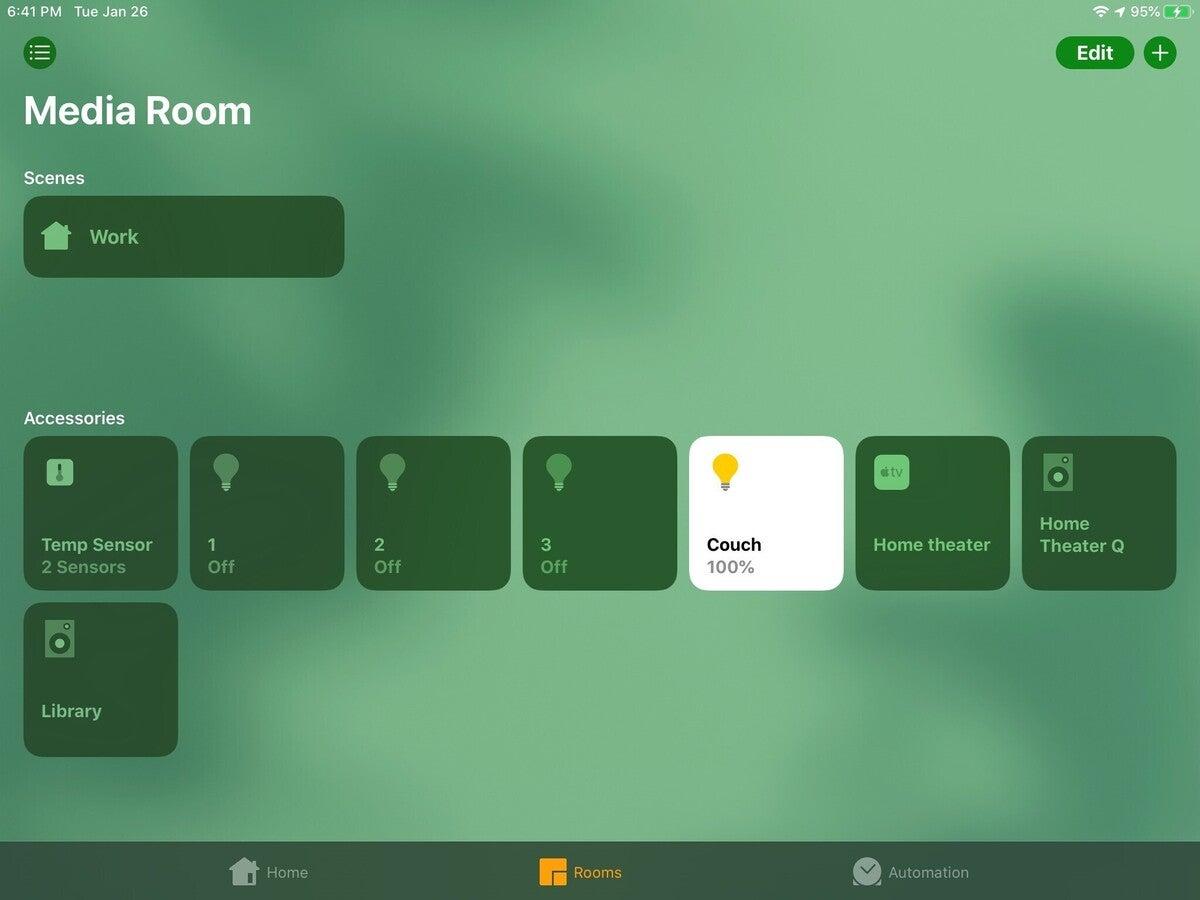 homekit room device control