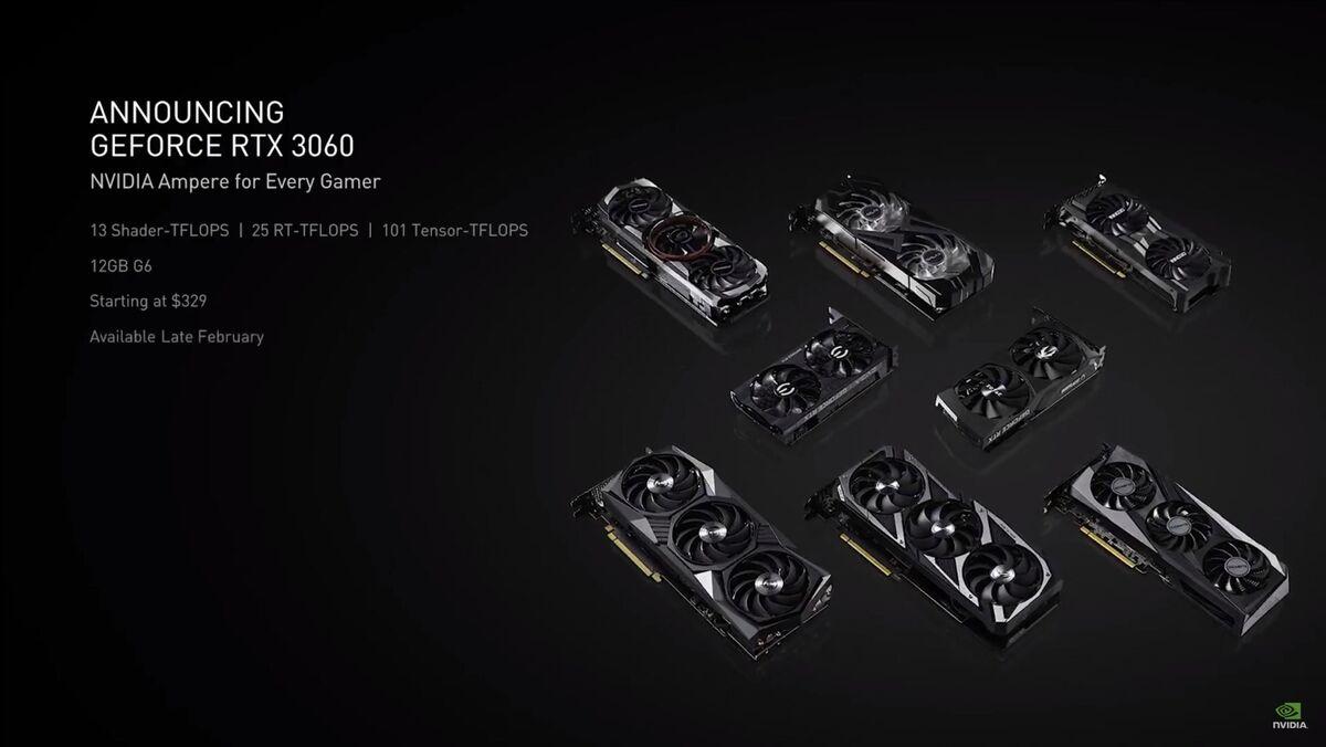 nvidia rtx 3060 در صورت درخواست