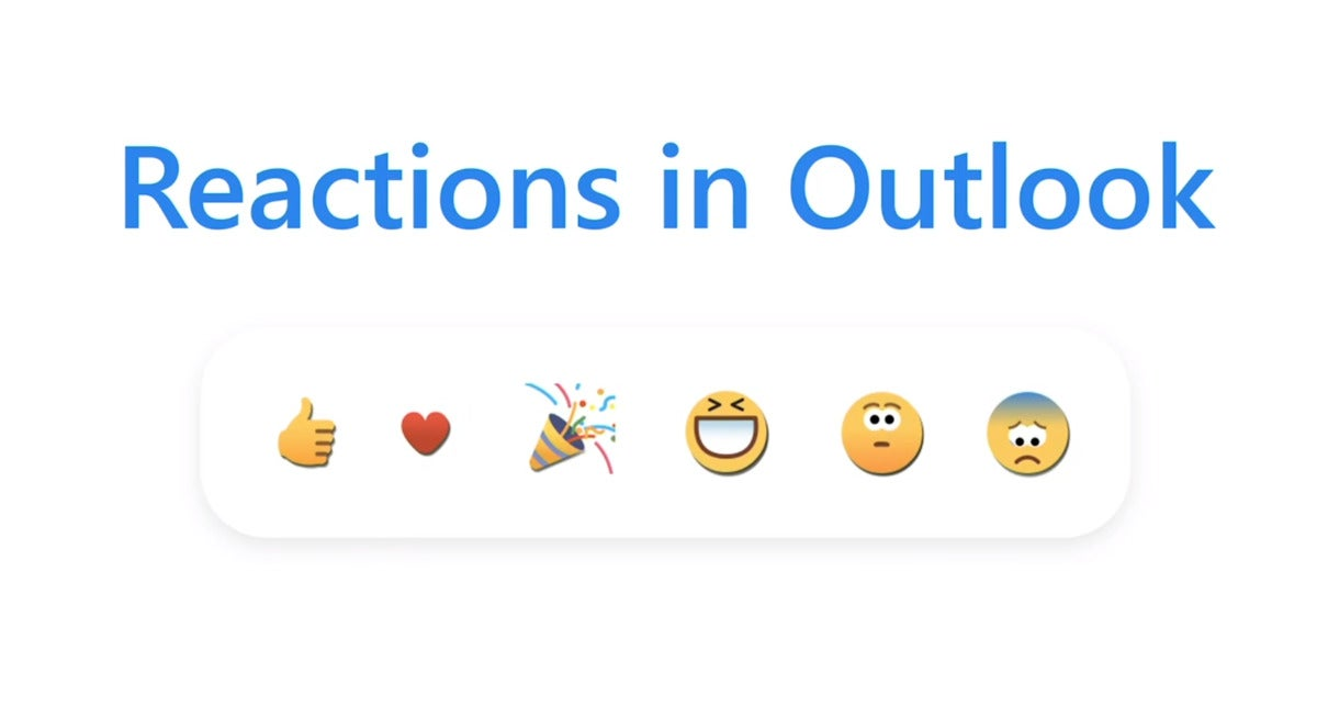 outlook reactions