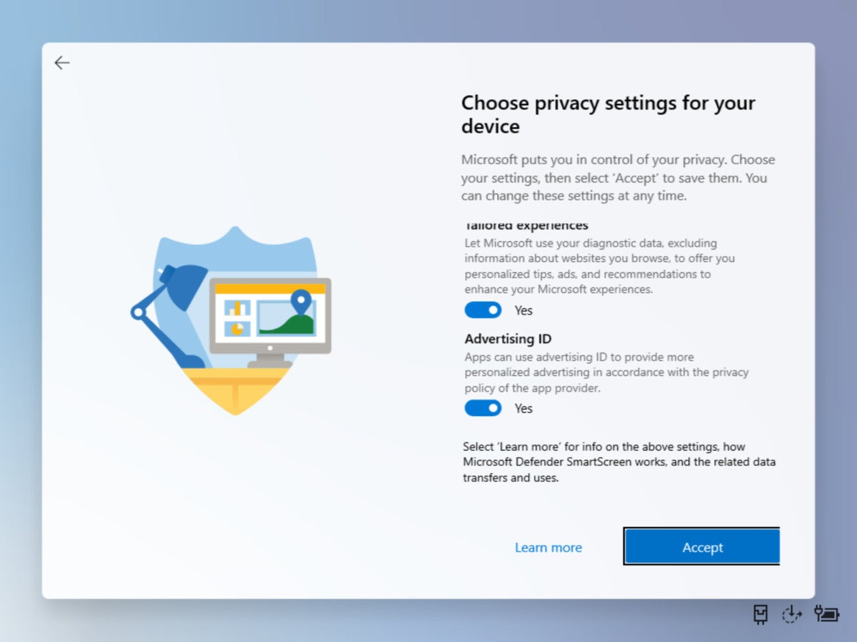 Microsoft Windows 10X privacy settings
