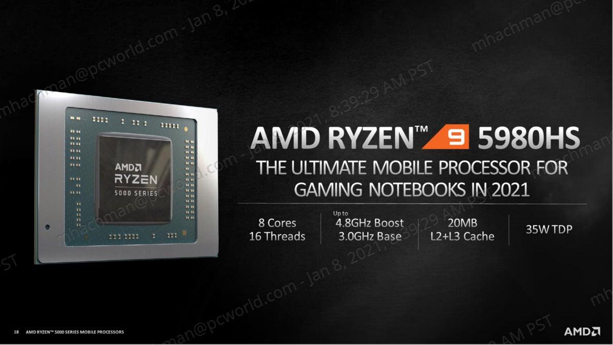 AMD ryzen 9 5980s