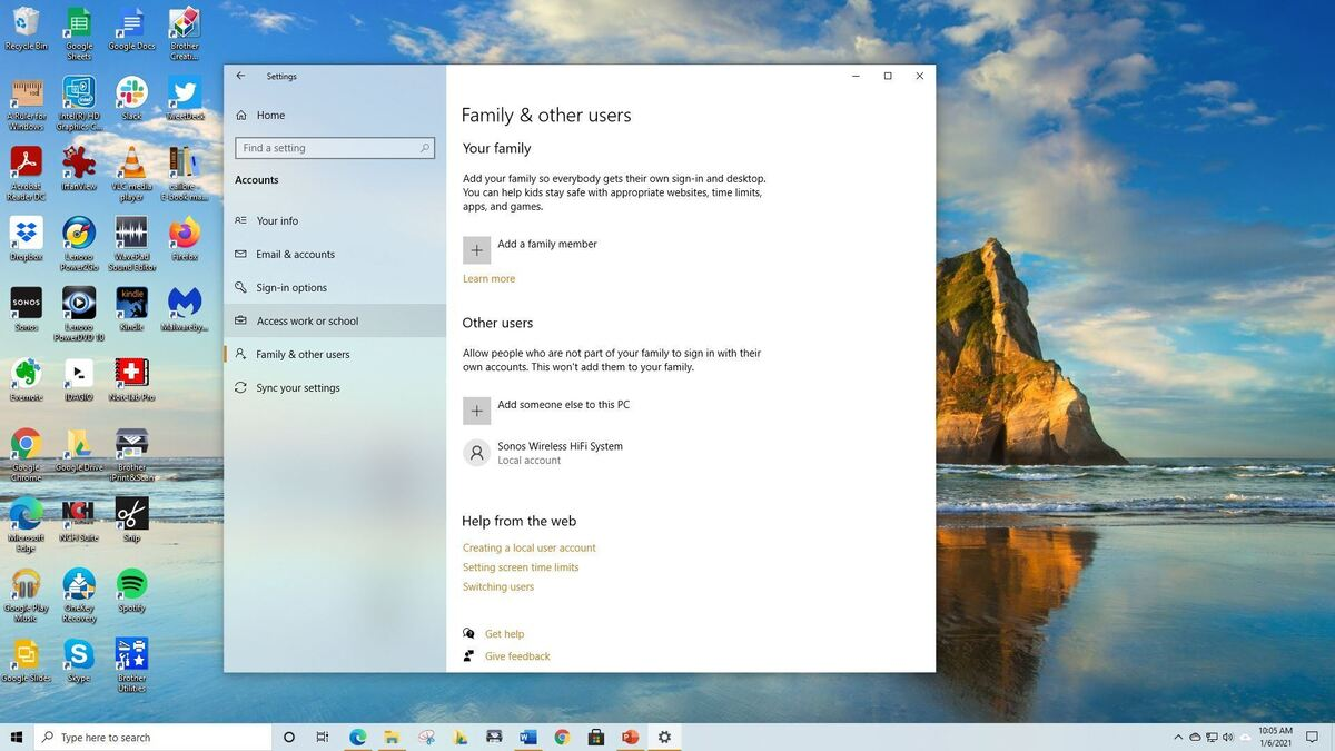 How to share a Windows 10 PC