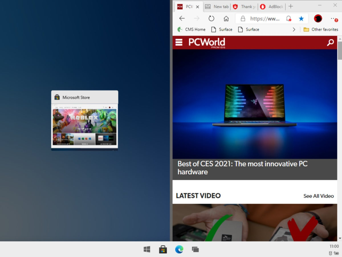 snap mode 100873662 large - Windows 10X leaks: Hands-on with Microsoft's new, simplified OS