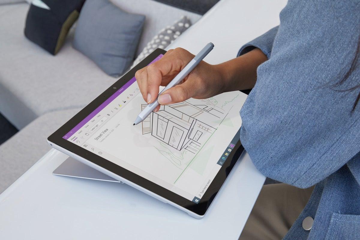 طراحی Microsoft surface pro 7+