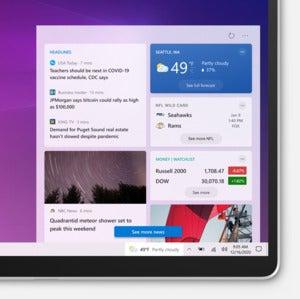 windows 10 insider taskbar news and interests