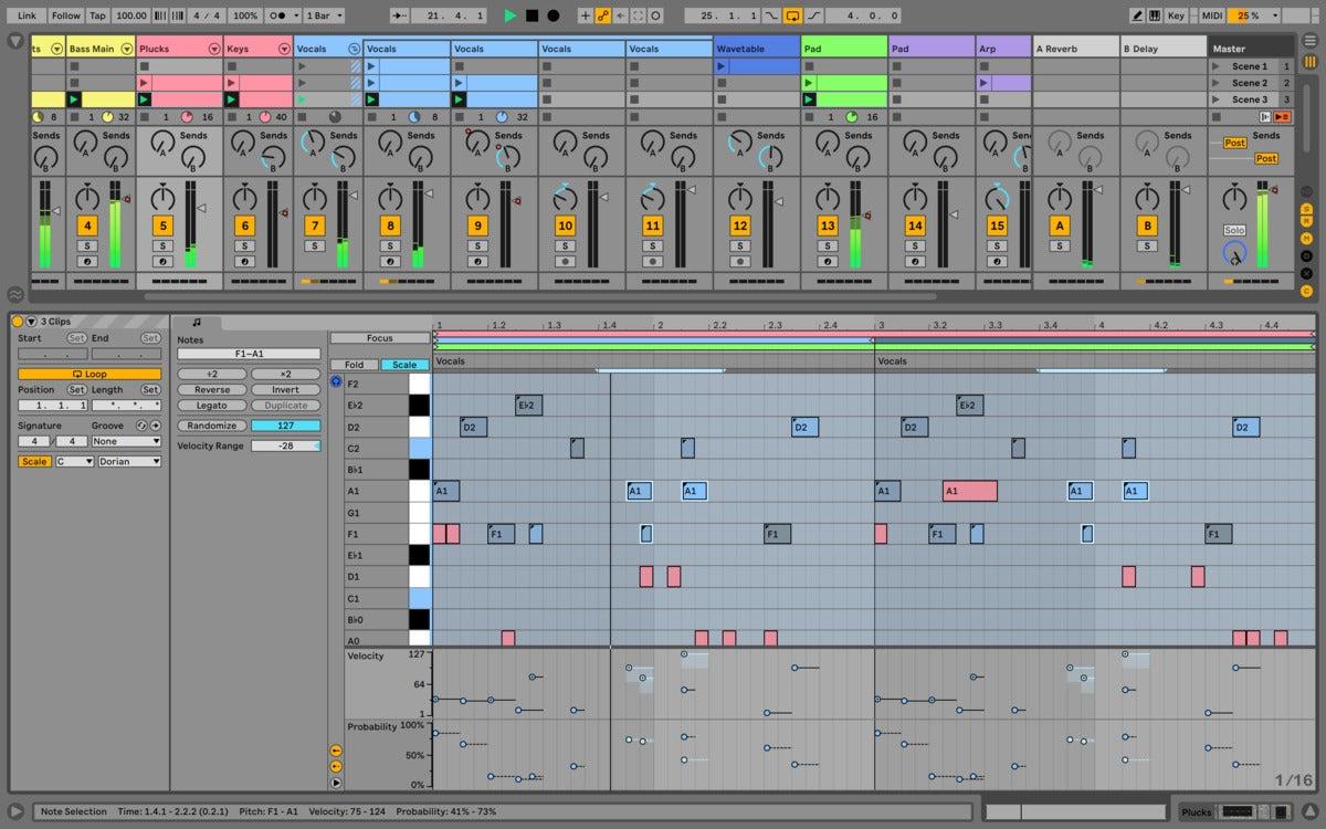 ableton live 11 multi clip editing