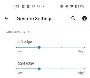 android 11 back sensitivity