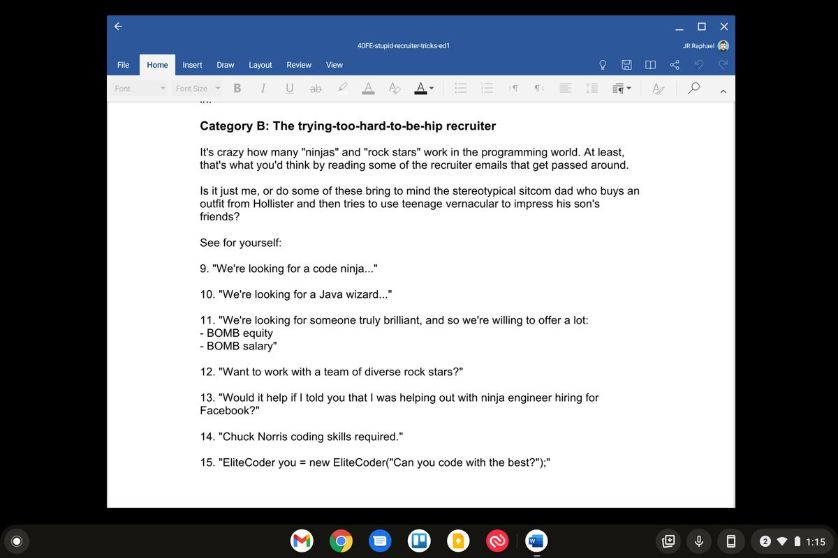 android apps chromebook microsoft word