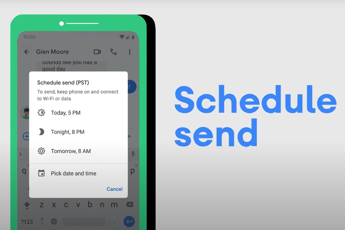 <p>Send texts in Your time with Android's Newest Schedule Send Attribute thumbnail