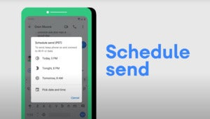android schedule send google