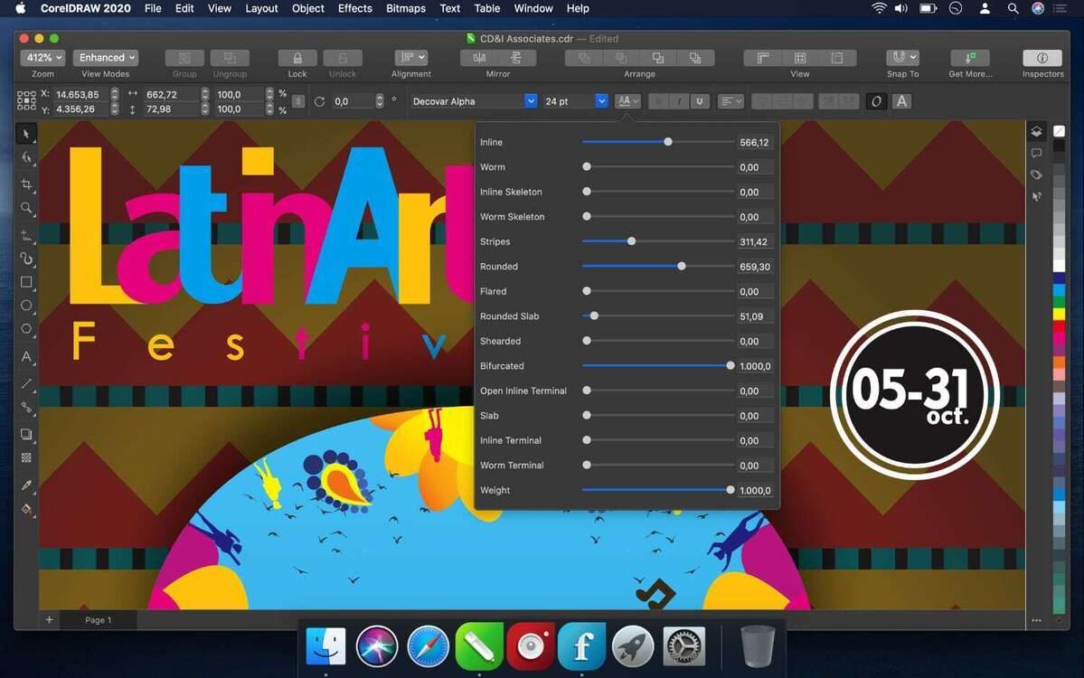 coreldraw graphics suite 2020 for mac variable fonts