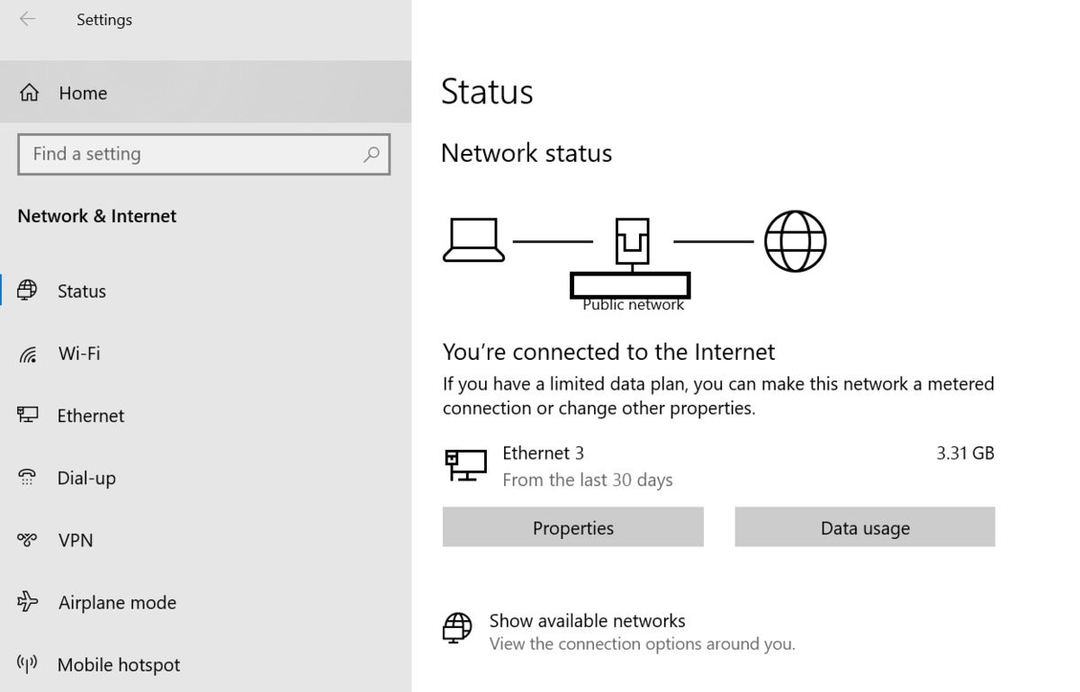 data cap windows 10 data usage
