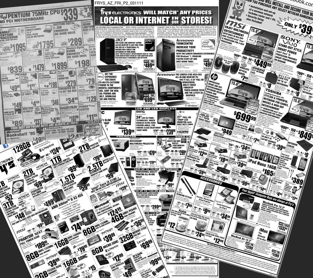 frys electronics newspaper ads circulars