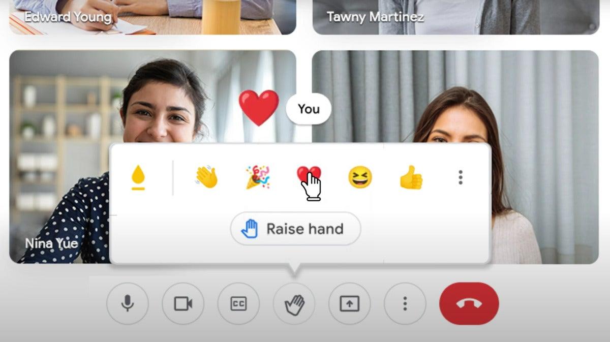 google meet emoji response