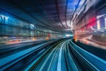 High-speed train tunnel / motion blur / speed / motion / forward progress / future / what's next