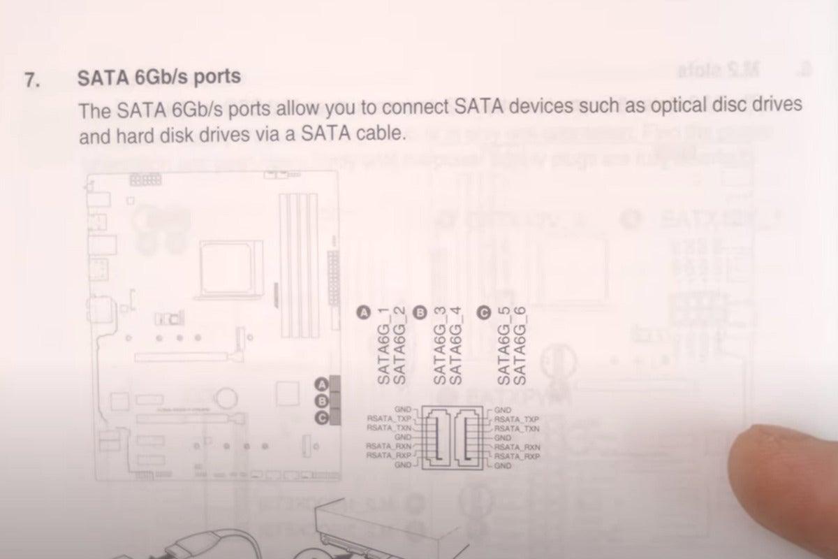 install sata ssd in pc read the manual identify sata 1 port