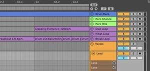 live arranger timeline