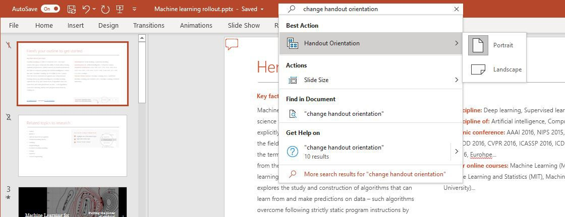 powerpoint m365 05 search bar