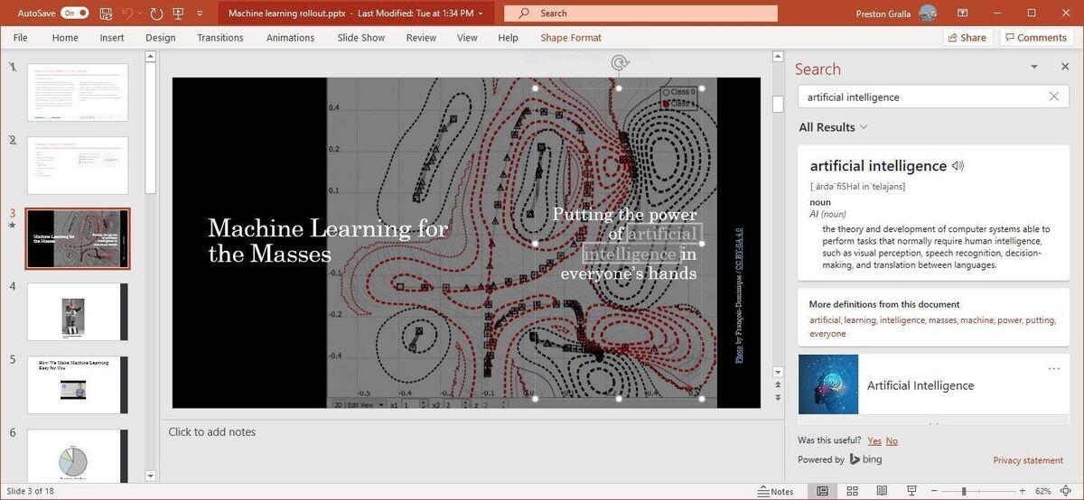 powerpoint m365 07 smart lookup
