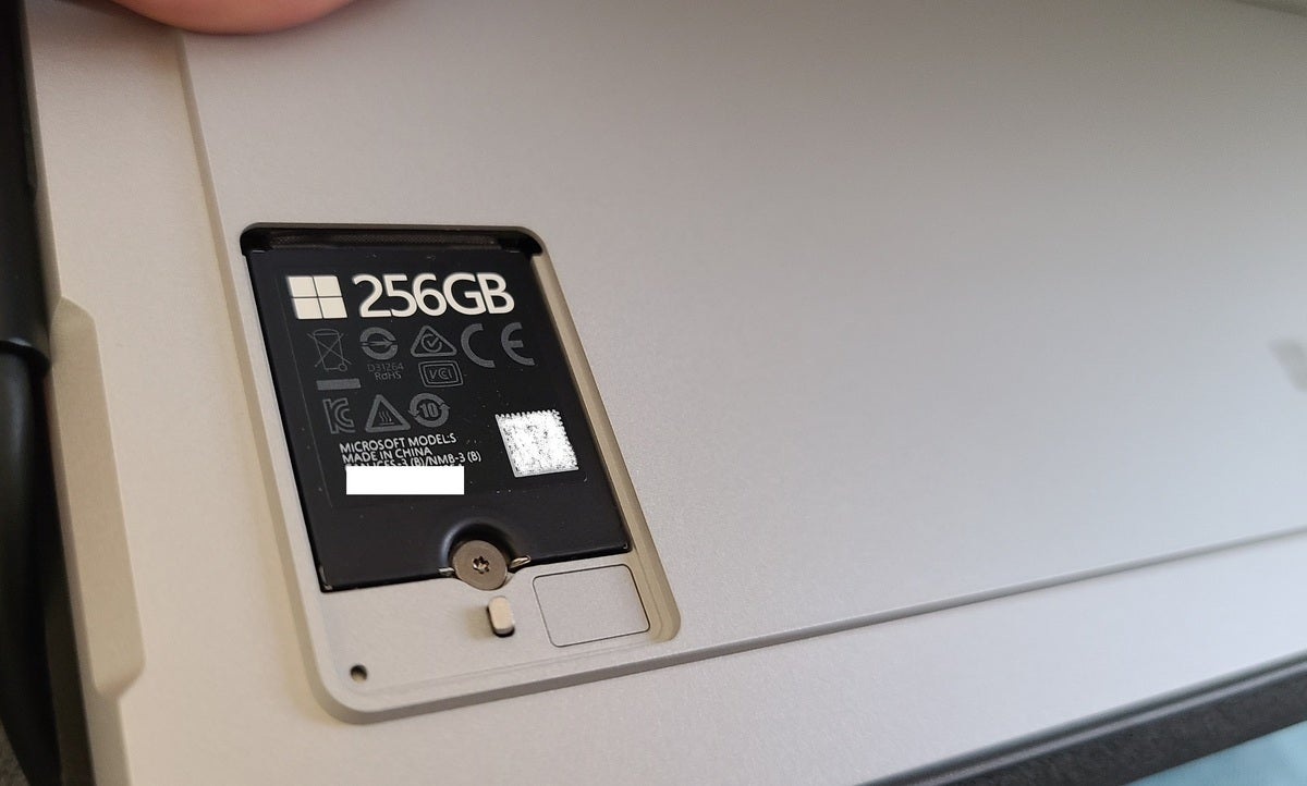 Microsoft Surface Pro 7+ ssd compartment edited