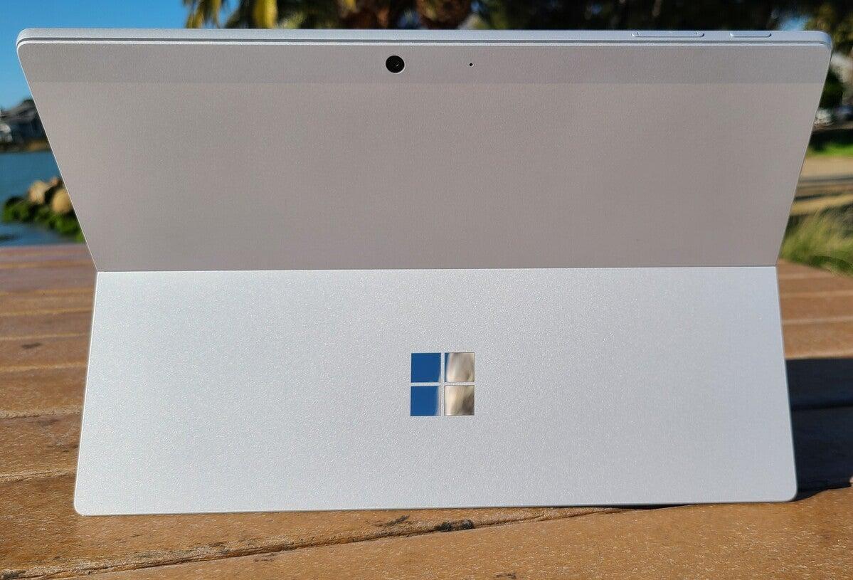 Microsoft surface pro 7+ rear and kickstand