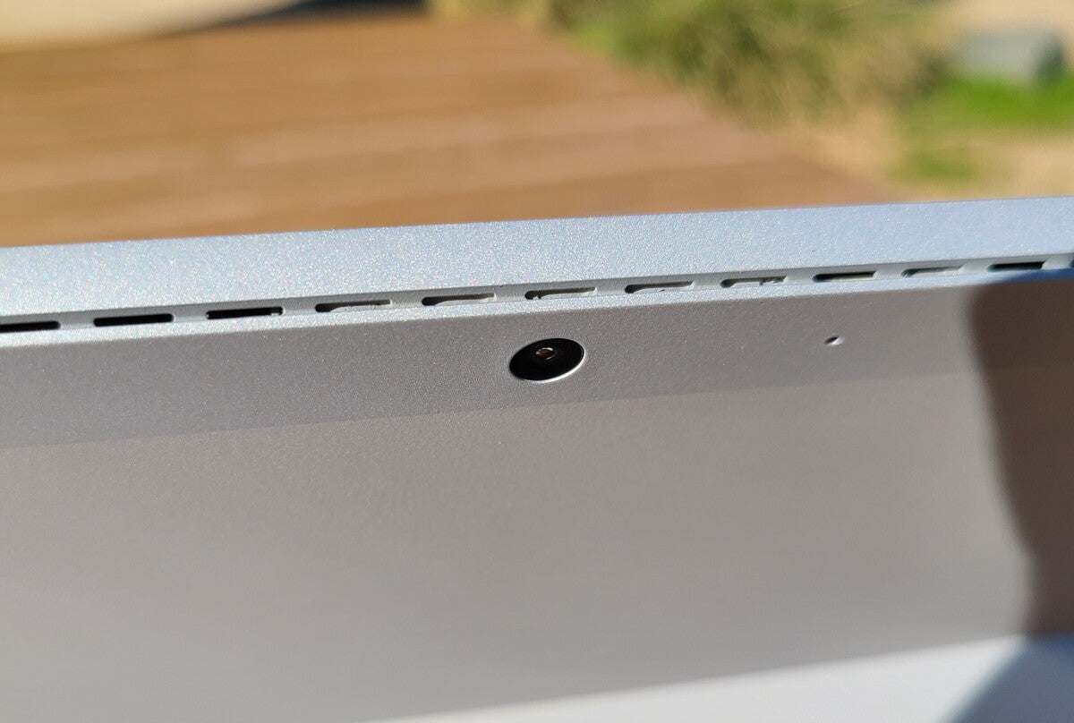 Microsoft surface pro 7+  rear vents and camera