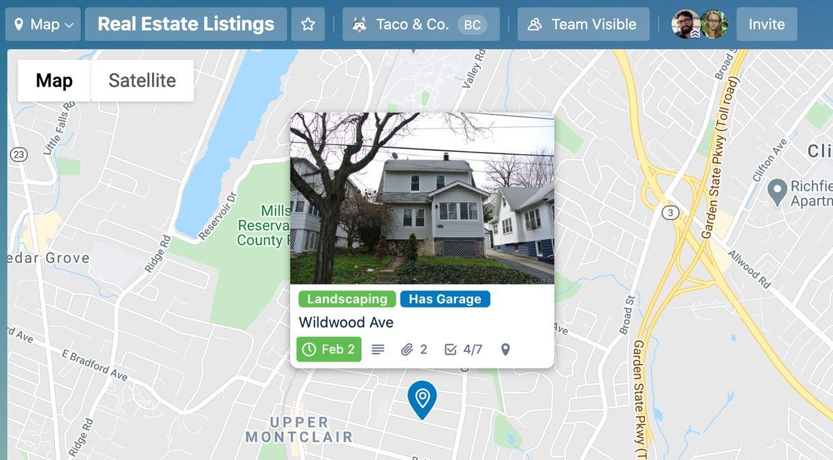 trello real estate map