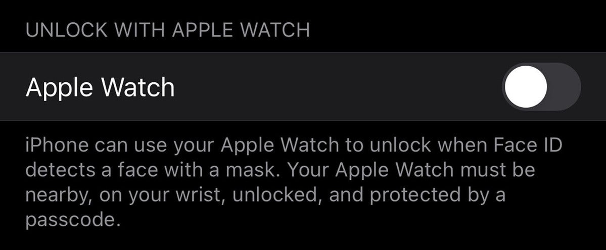 unlock watch settings
