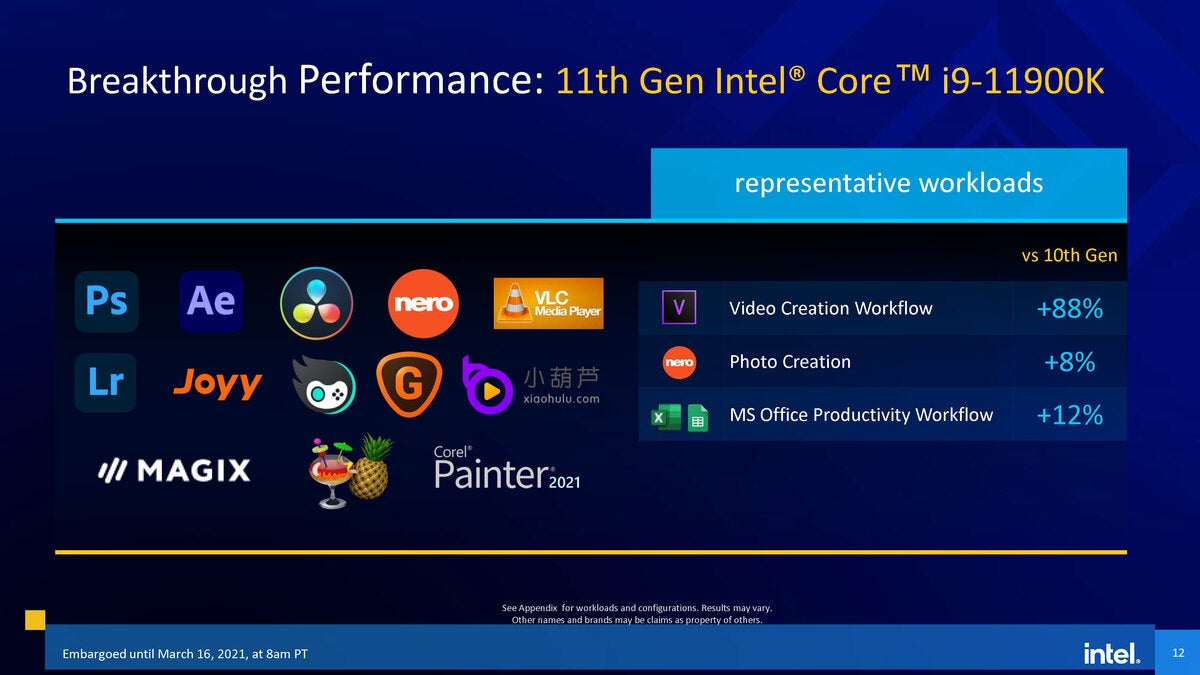 11thgenintelcore s series launch pressdeck embargoed until march16th  gord page 12