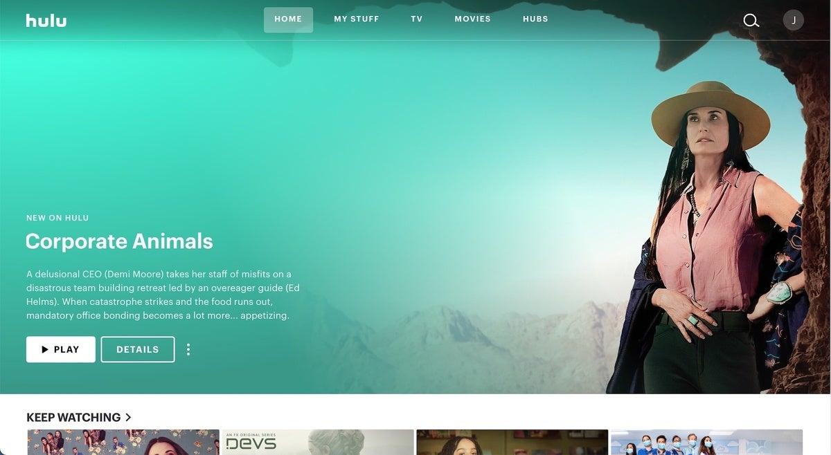 Hulu home screen