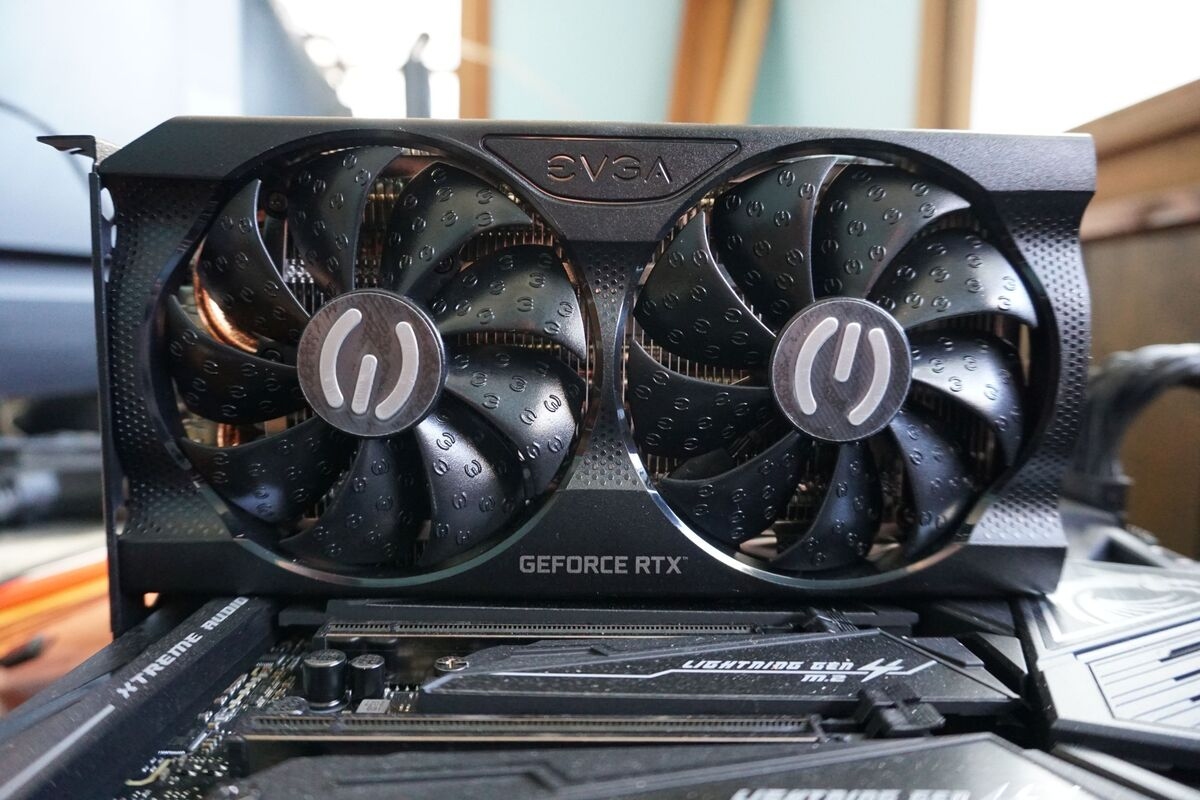 evga geforce rtx 3060 xc بازی سیاه 5