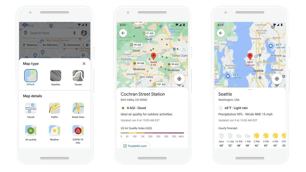 google maps air quality