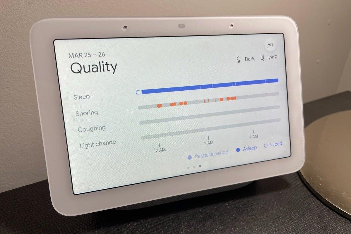 google nest hub 2nd gen sleep quality analysis