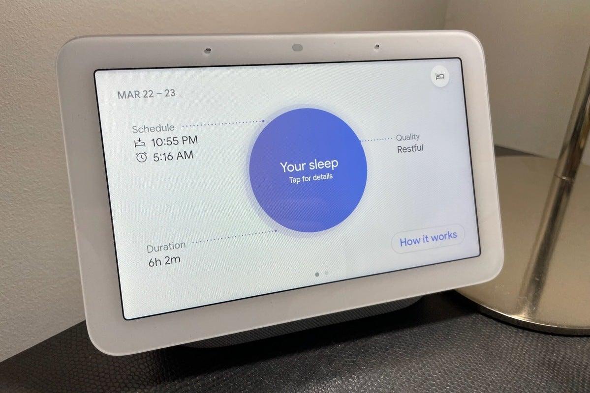 Google nest hub خلاصه نسل 2 خواب