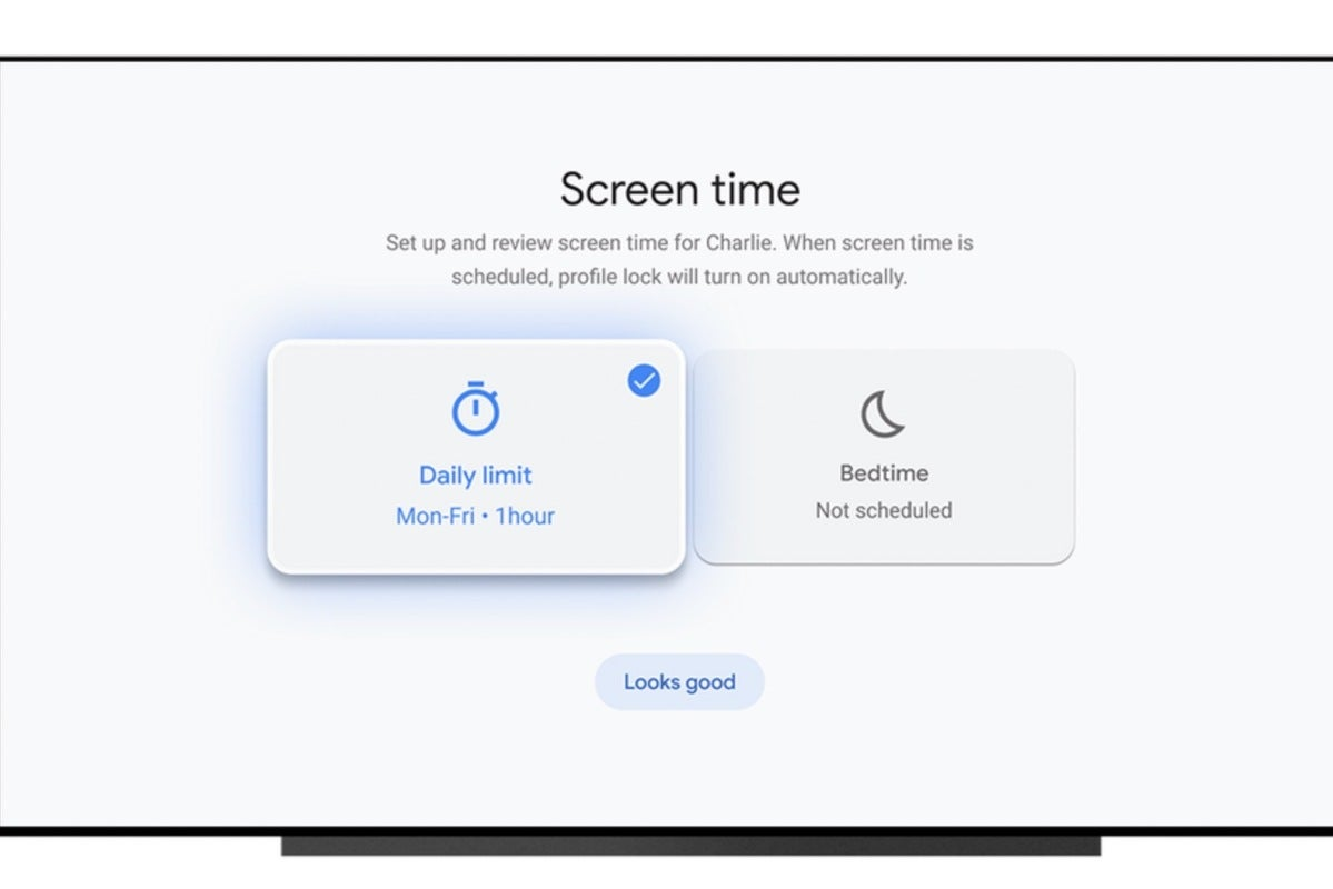 google tv kids profiles screen time