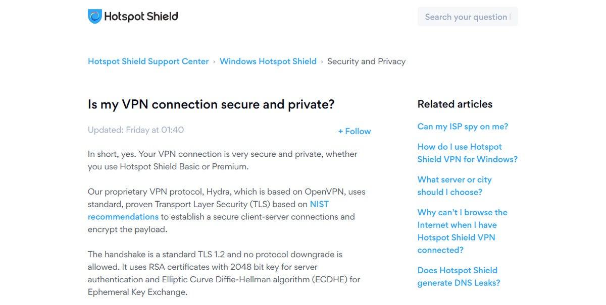 خرابی رمزگذاری سپر hotspot